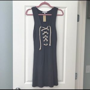 AEO Lace Up Rope Bodycon Dress